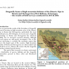 Istraživanje vilinih konjica planinskog područja BiH u biltenu Agrion